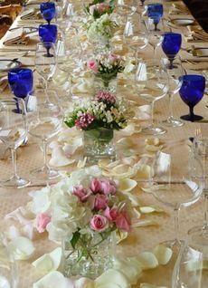 украса сватба маса