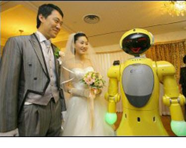 Роботът Тиро - сватба